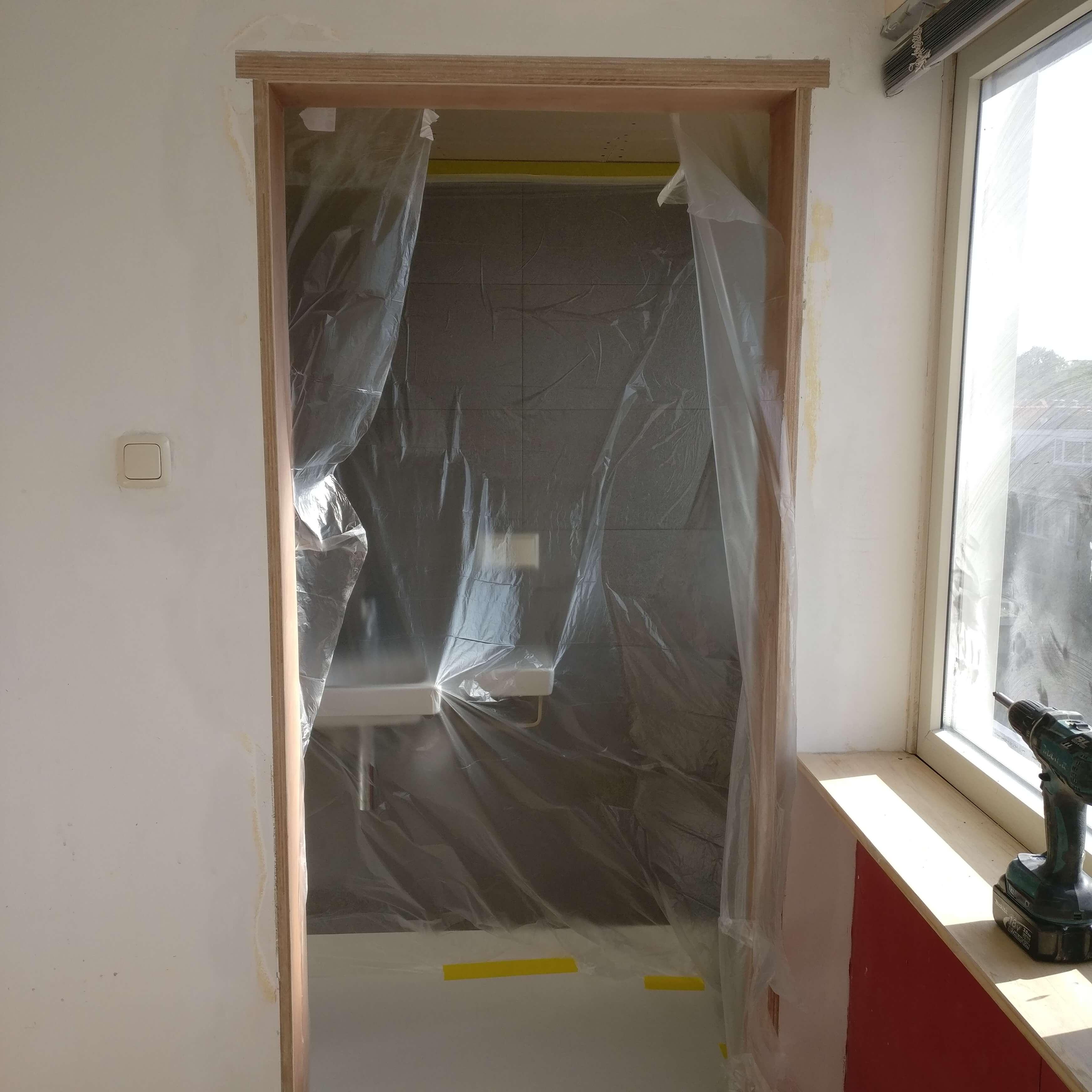Opbouw complete badkamer zolderverieping