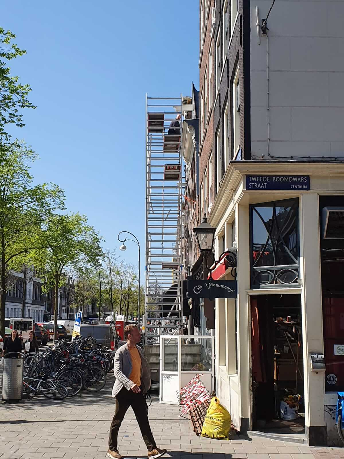 Gevelbekleding Amsterdam in hartje Jordaan Amsterdam