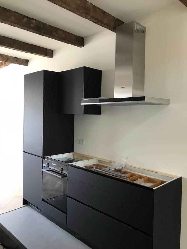 Moderne keuken in oud pand